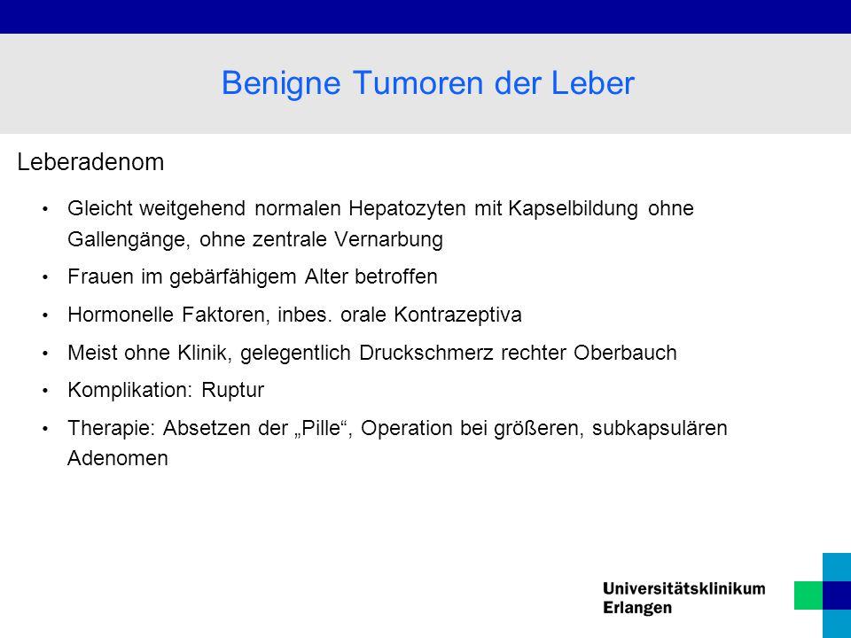 Benigne Tumoren der Leber