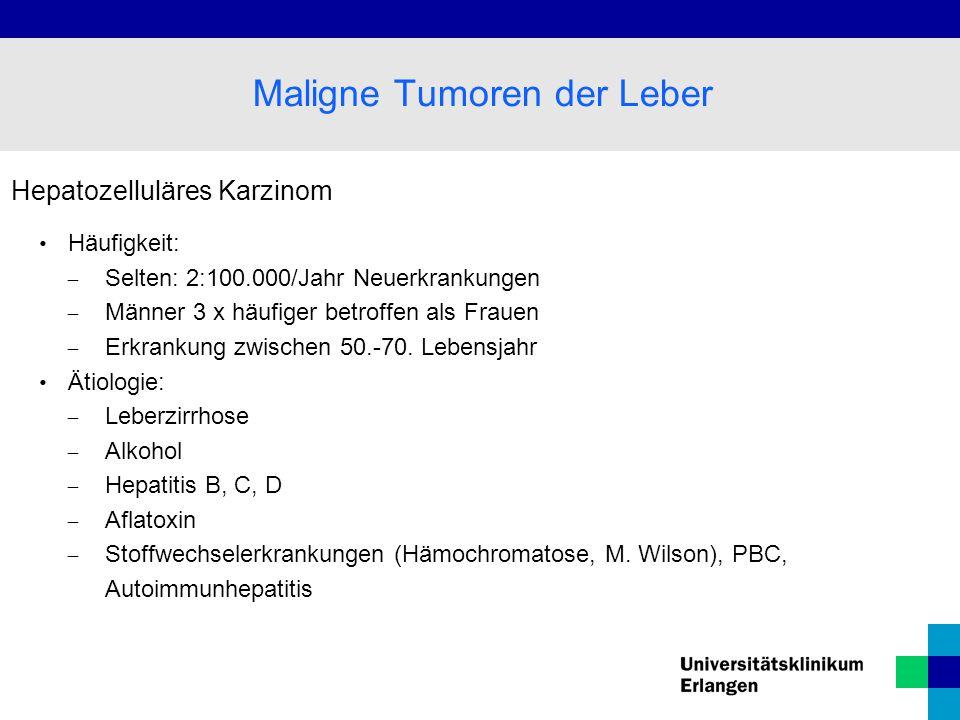 Maligne Tumoren der Leber