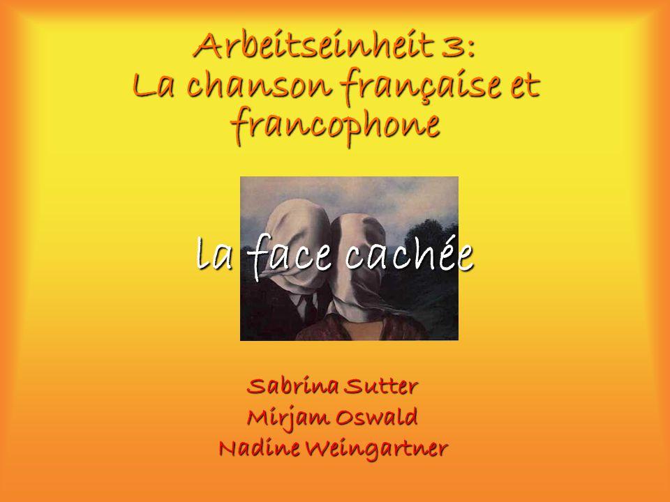Arbeitseinheit 3: La chanson française et francophone