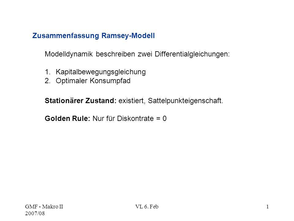 Zusammenfassung Ramsey-Modell