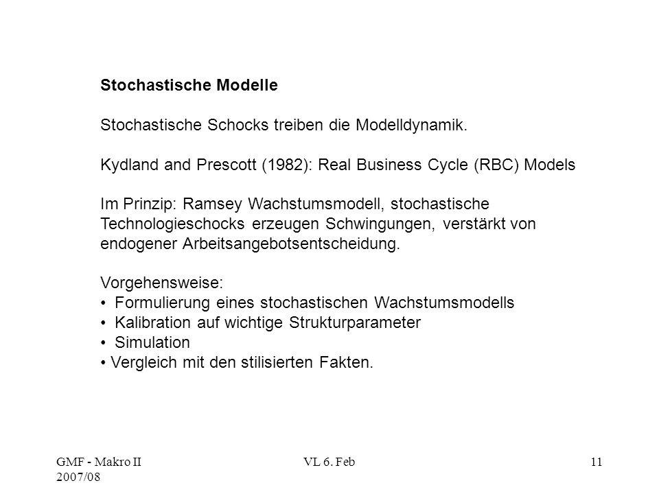 Stochastische Modelle Stochastische Schocks treiben die Modelldynamik.