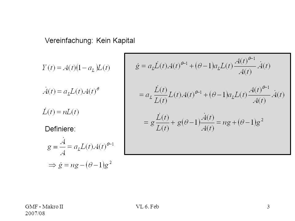 Vereinfachung: Kein Kapital