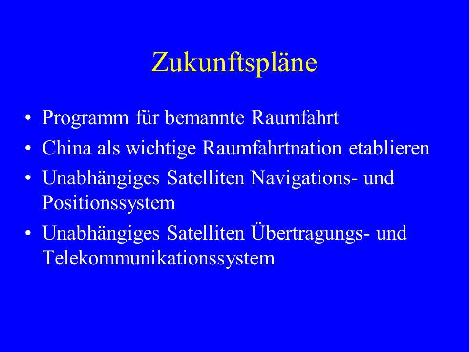 Zukunftspläne Programm für bemannte Raumfahrt