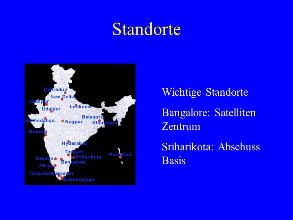 Standorte Wichtige Standorte Bangalore: Satelliten Zentrum