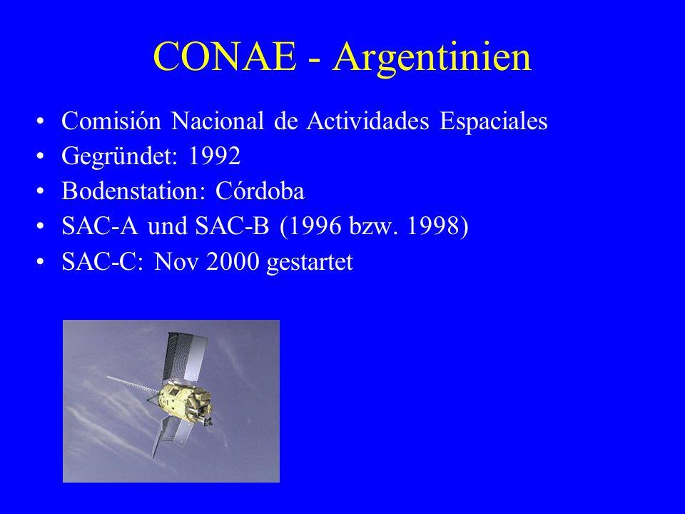 CONAE - Argentinien Comisión Nacional de Actividades Espaciales