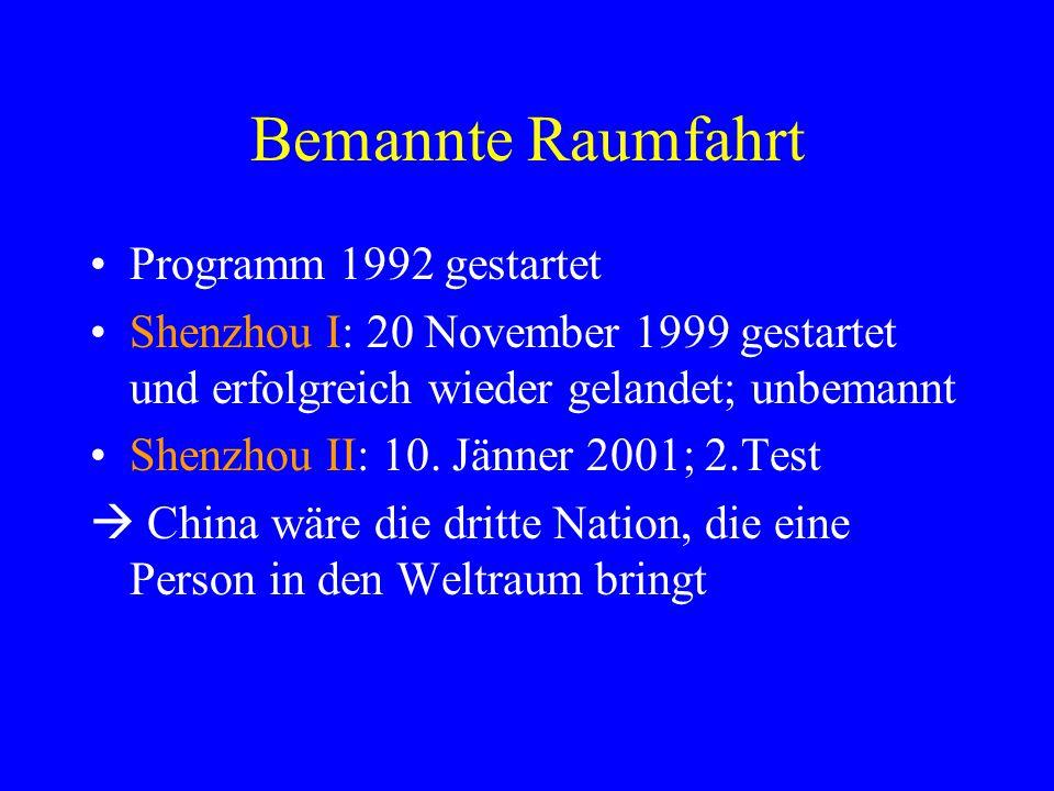 Bemannte Raumfahrt Programm 1992 gestartet