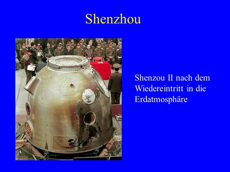 Shenzhou Shenzou II nach dem Wiedereintritt in die Erdatmosphäre