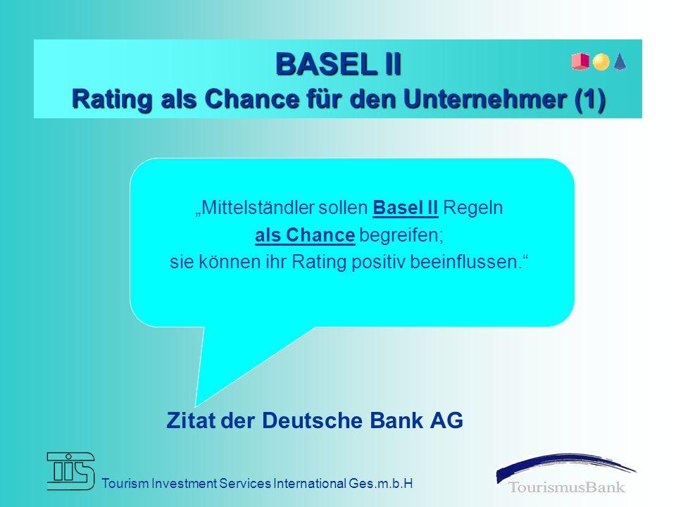 BASEL II Rating als Chance für den Unternehmer (1)