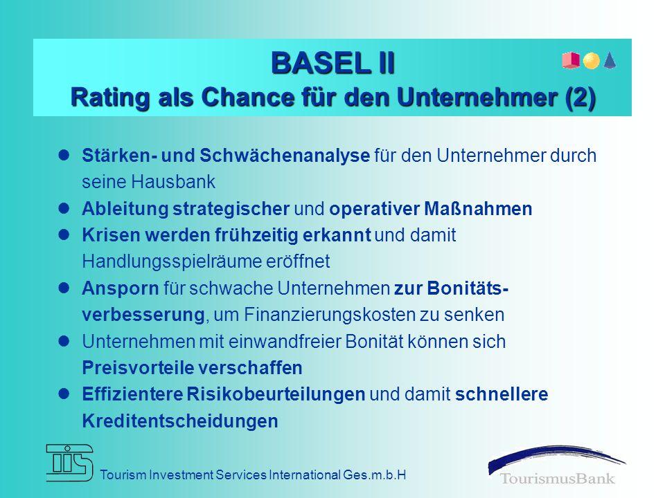 BASEL II Rating als Chance für den Unternehmer (2)