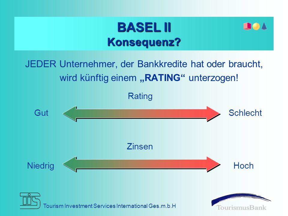 """BASEL II Konsequenz JEDER Unternehmer, der Bankkredite hat oder braucht, wird künftig einem """"RATING unterzogen!"""