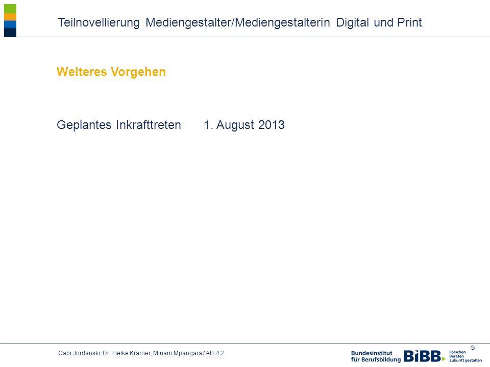 Teilnovellierung Mediengestalter/Mediengestalterin Digital und Print