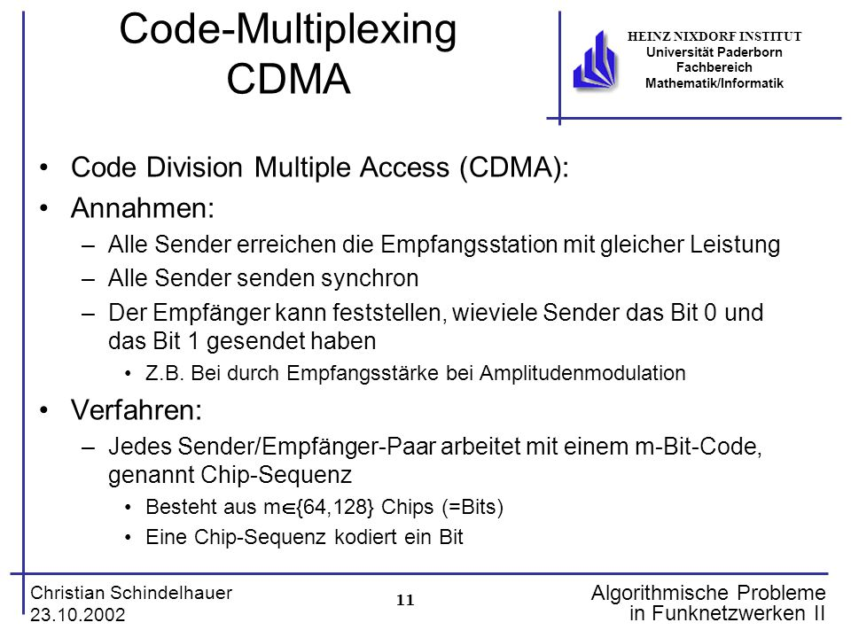 Code-Multiplexing CDMA
