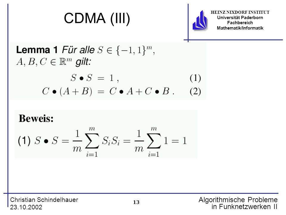CDMA (III)