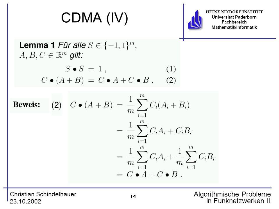 CDMA (IV)