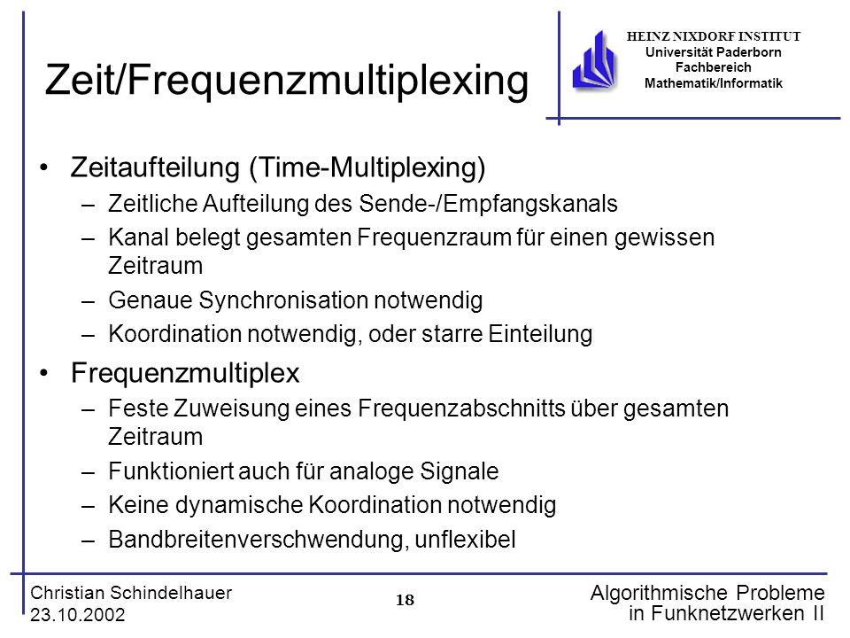 Zeit/Frequenzmultiplexing