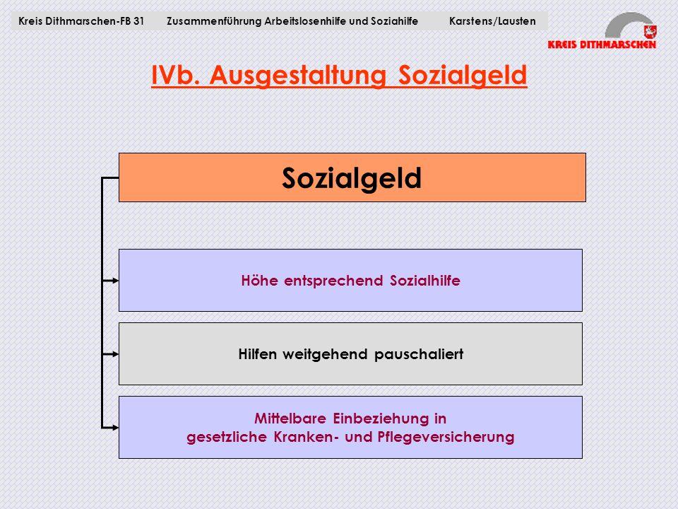IVb. Ausgestaltung Sozialgeld