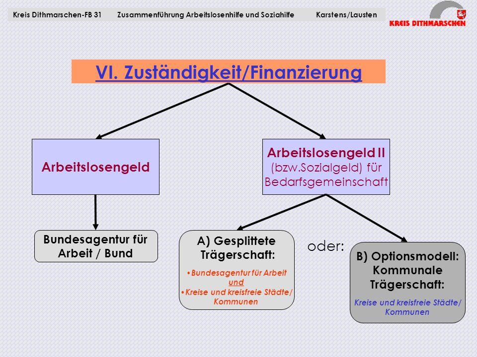 VI. Zuständigkeit/Finanzierung
