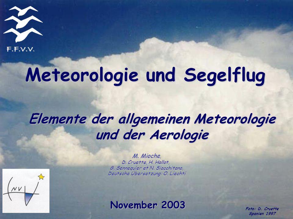 Elemente der allgemeinen Meteorologie