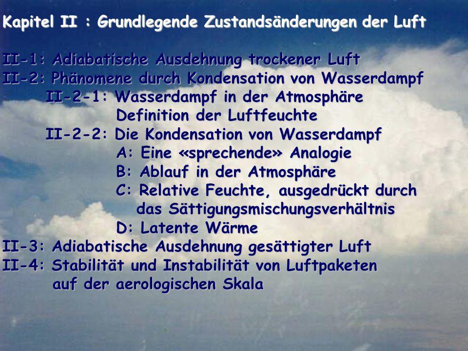 Kapitel II : Grundlegende Zustandsänderungen der Luft
