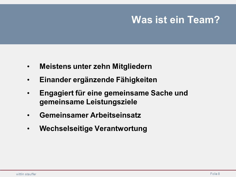 Was ist ein Team Meistens unter zehn Mitgliedern