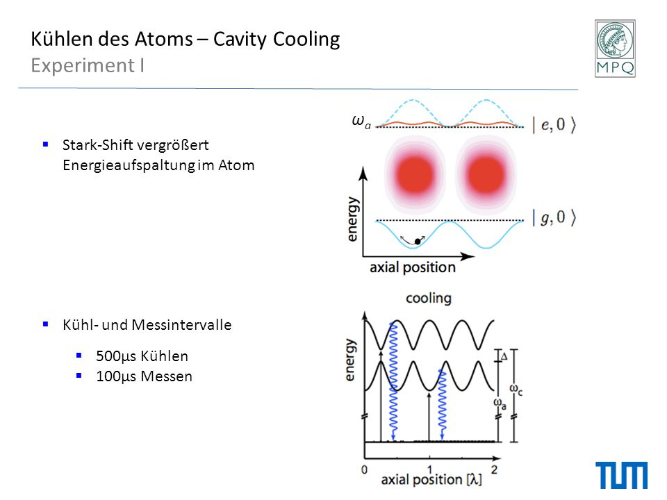 Kühlen des Atoms – Cavity Cooling Experiment I