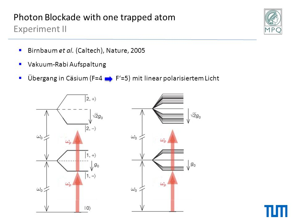 Photon Blockade with one trapped atom Experiment II
