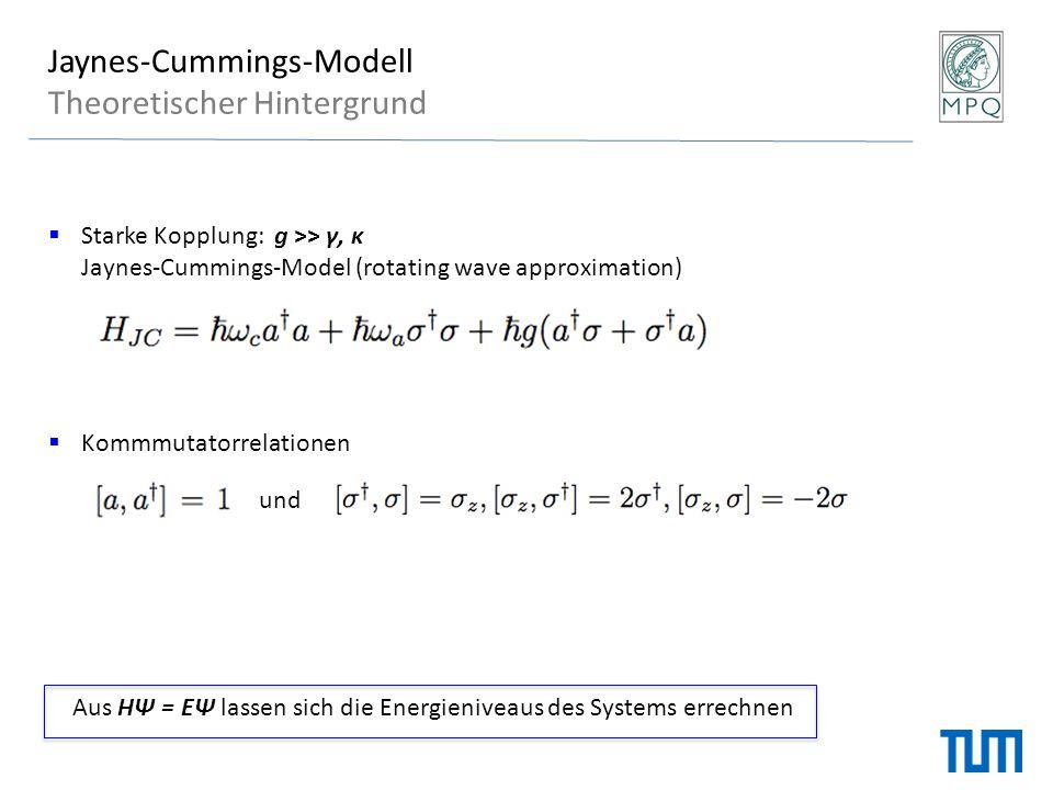 Jaynes-Cummings-Modell Theoretischer Hintergrund