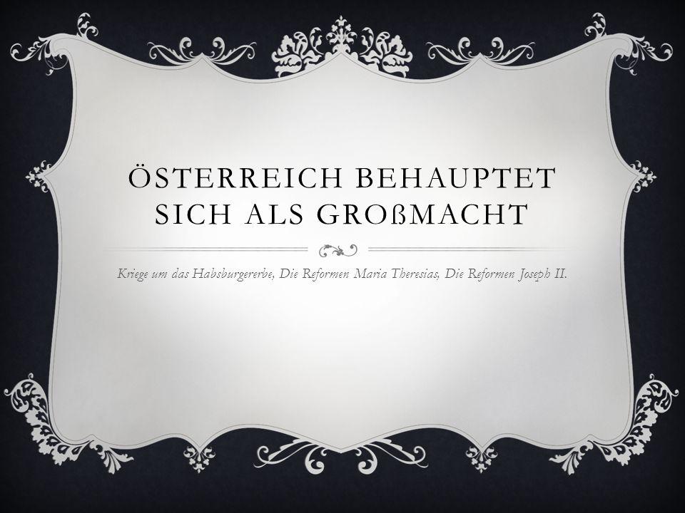 Österreich behauptet sich als Großmacht
