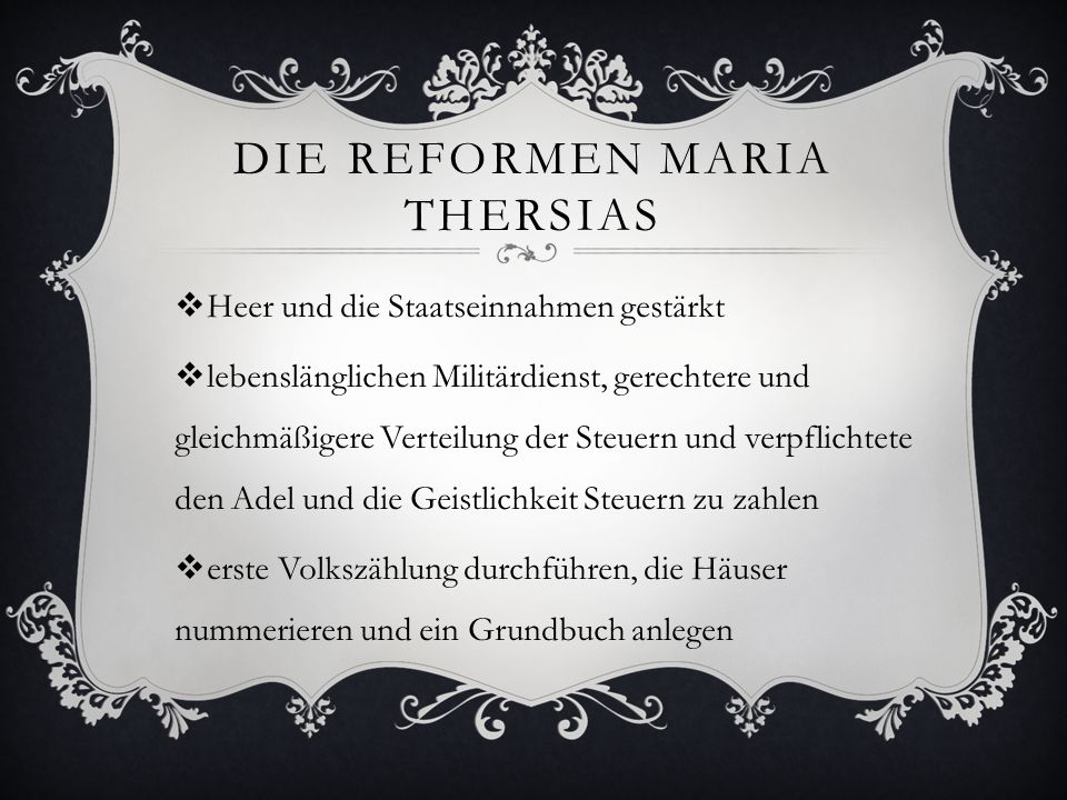 Die Reformen Maria Thersias