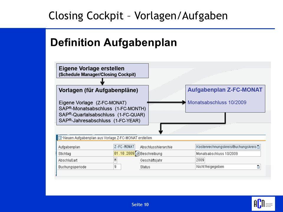 Definition Aufgabenplan