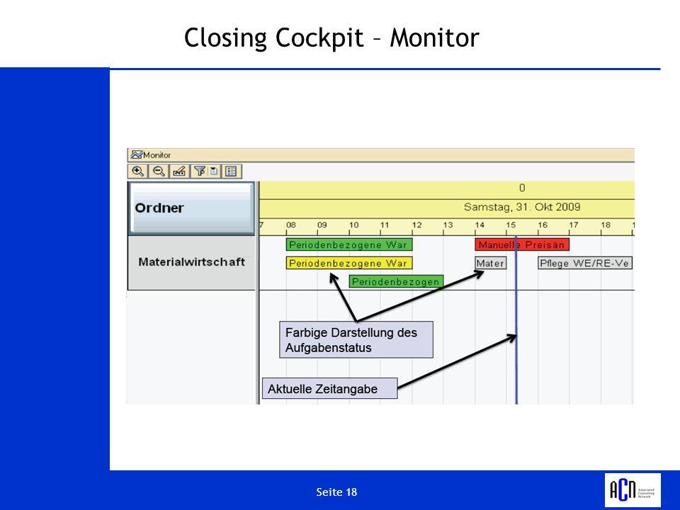 Closing Cockpit – Monitor