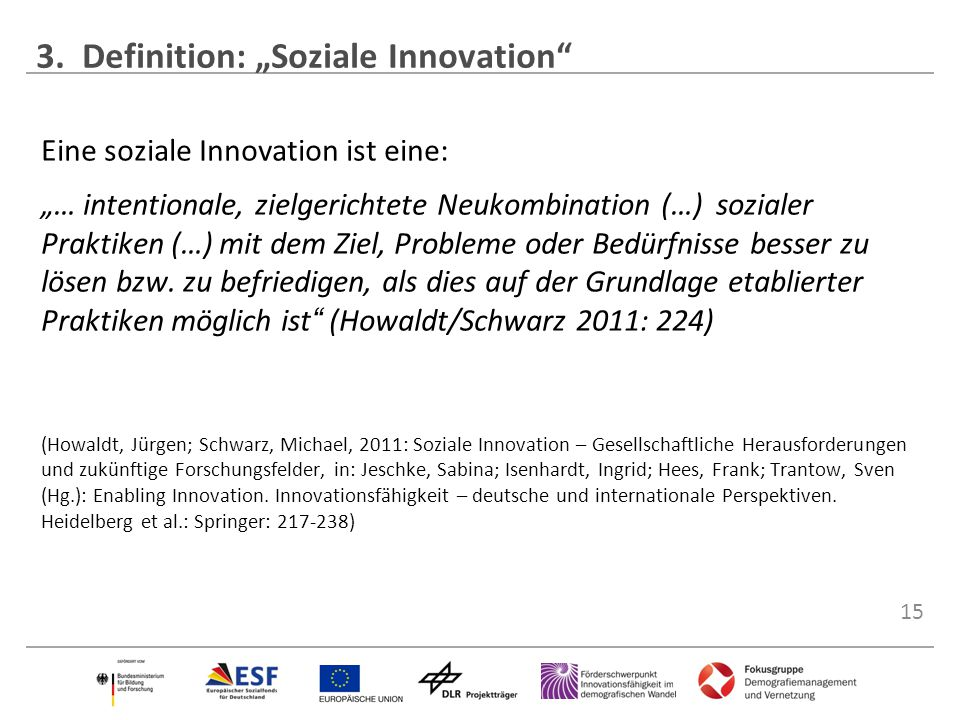 "3. Definition: ""Soziale Innovation"