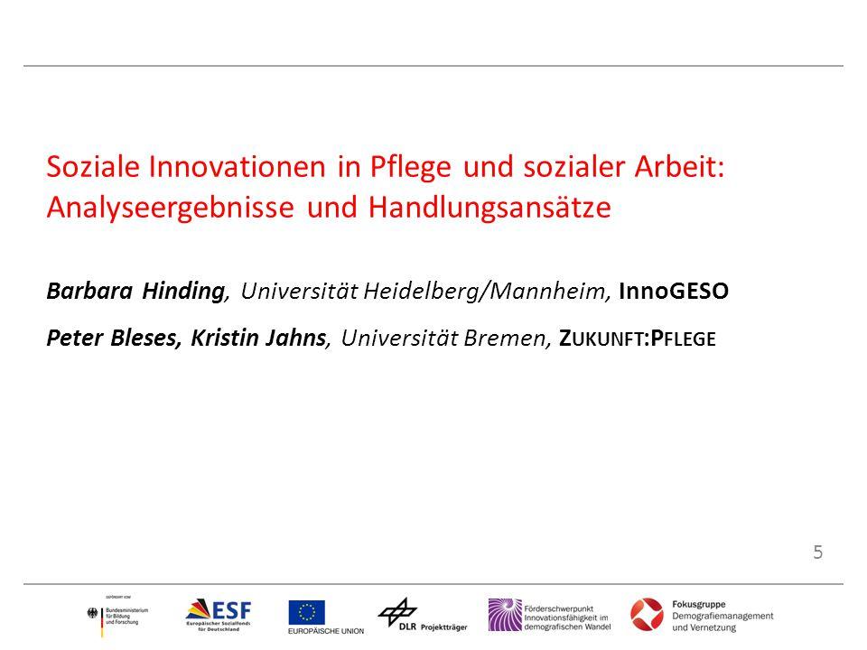 Soziale Innovationen in Pflege und sozialer Arbeit: Analyseergebnisse und Handlungsansätze