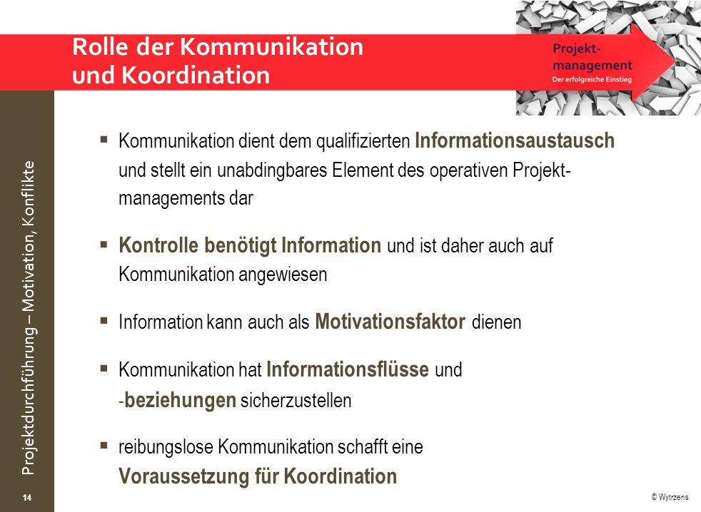 Rolle der Kommunikation und Koordination