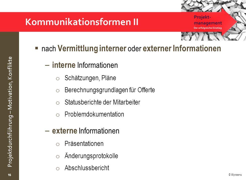 Kommunikationsformen II