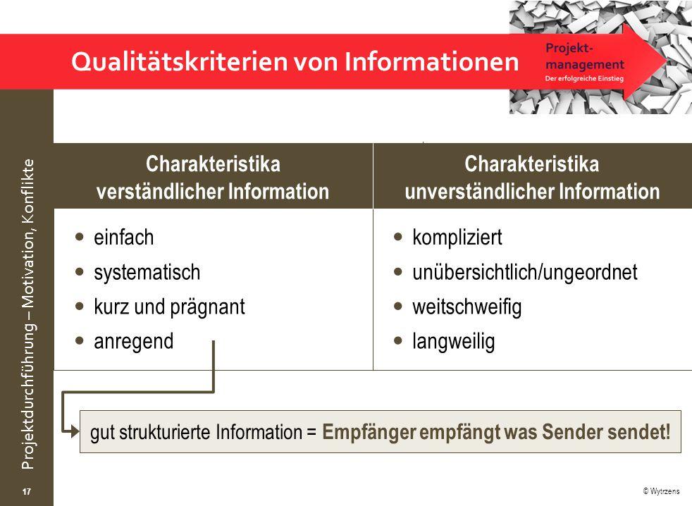 Qualitätskriterien von Informationen