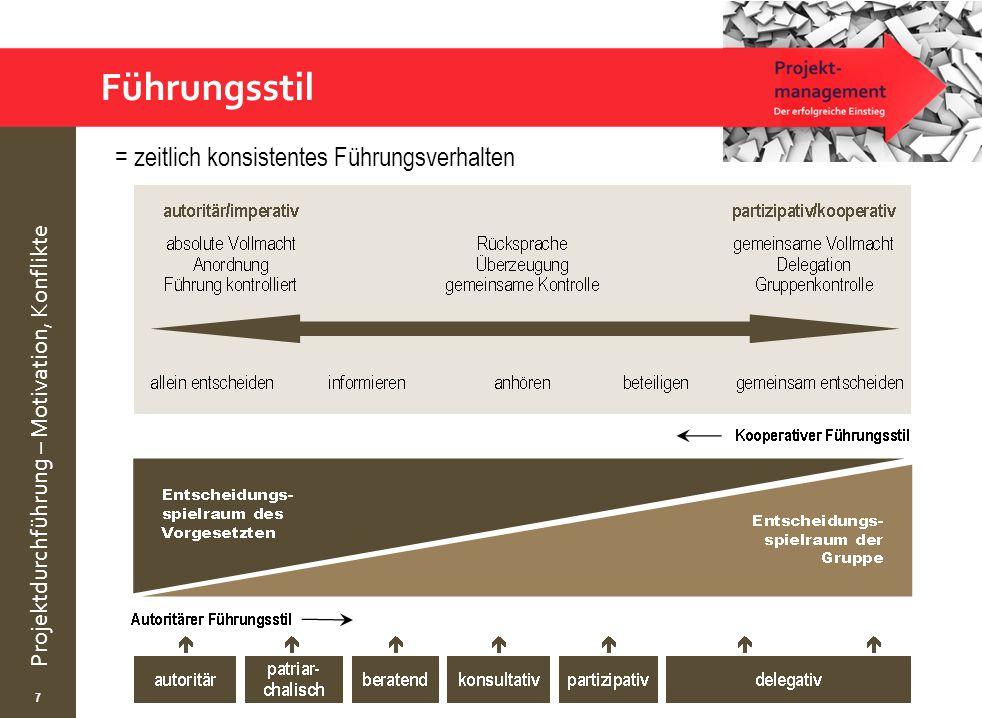 Führungsstil = zeitlich konsistentes Führungsverhalten