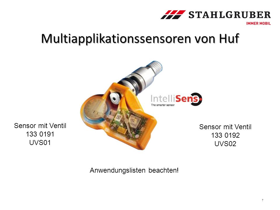 Multiapplikationssensoren von Huf
