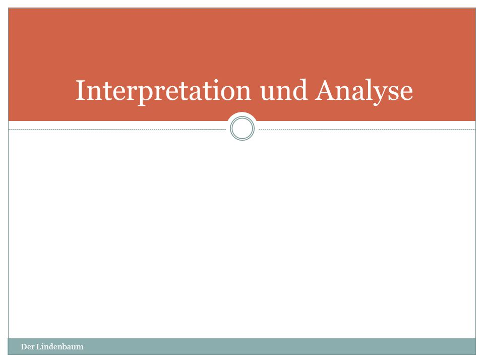Interpretation und Analyse