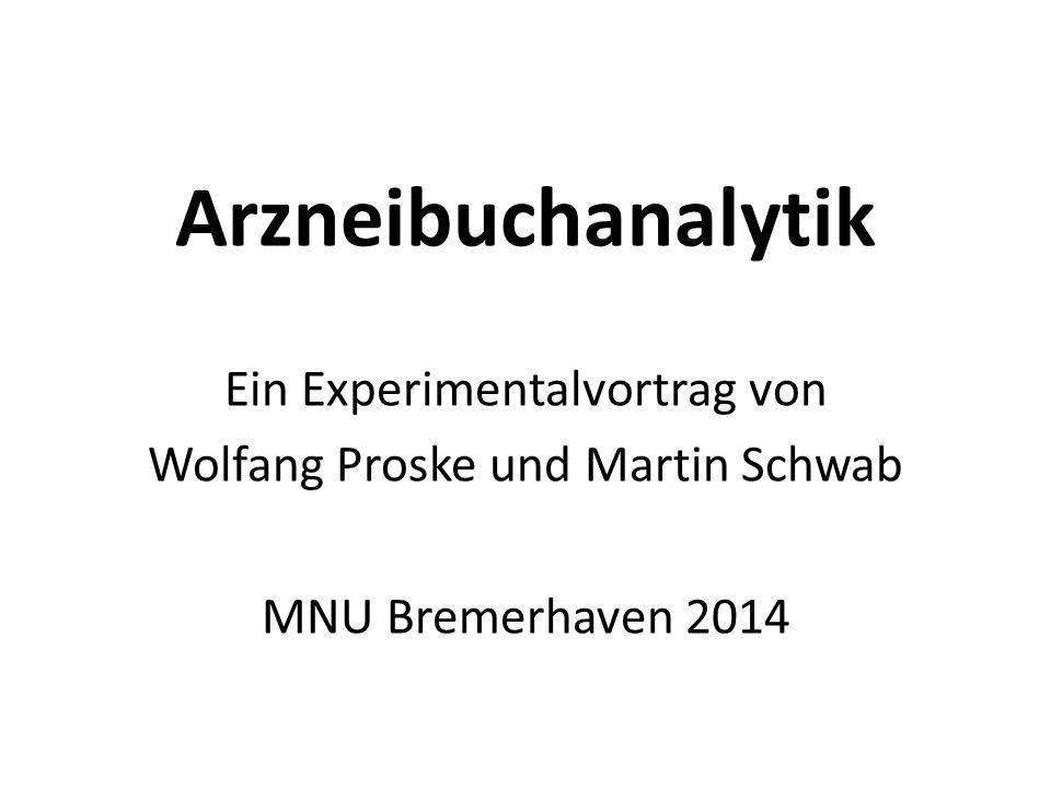 Arzneibuchanalytik Ein Experimentalvortrag von