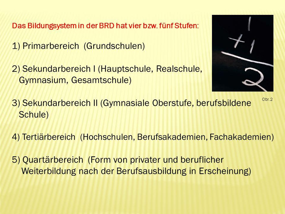 1) Primarbereich (Grundschulen)