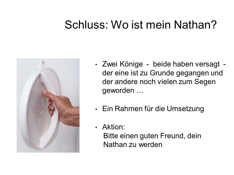 Schluss: Wo ist mein Nathan
