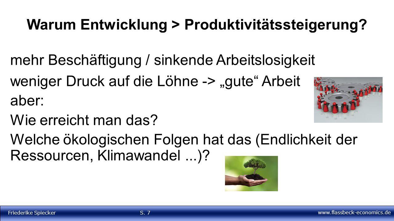 Warum Entwicklung > Produktivitätssteigerung
