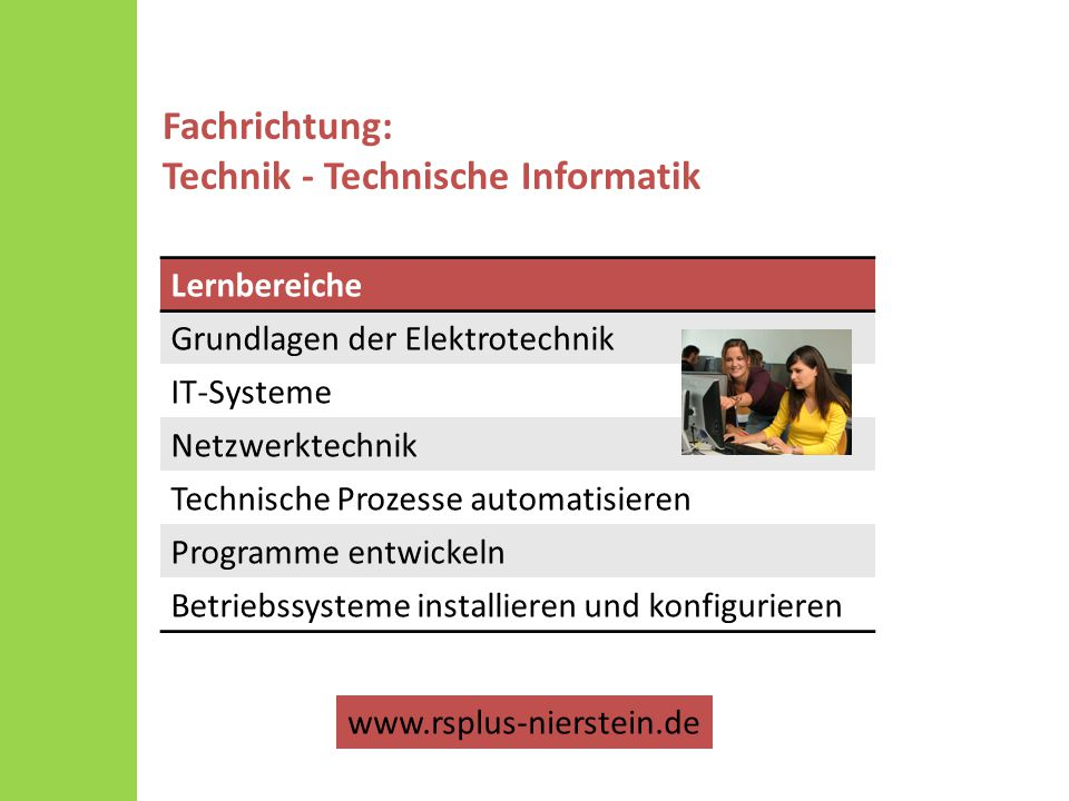 Fachrichtung: Technik - Technische Informatik