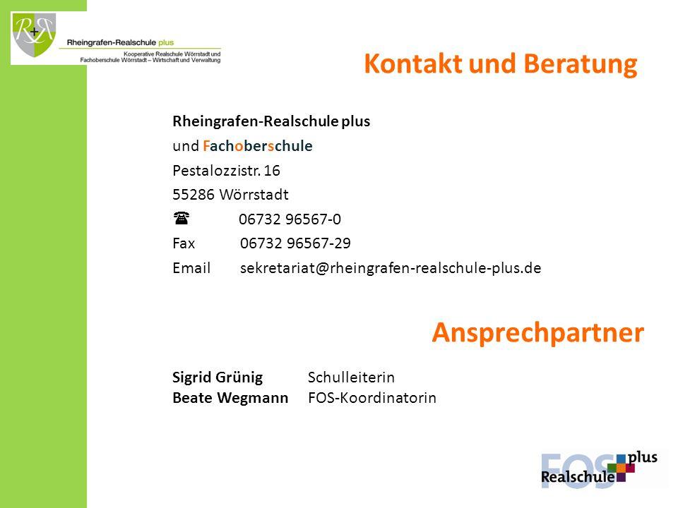 Kontakt und Beratung Ansprechpartner Rheingrafen-Realschule plus