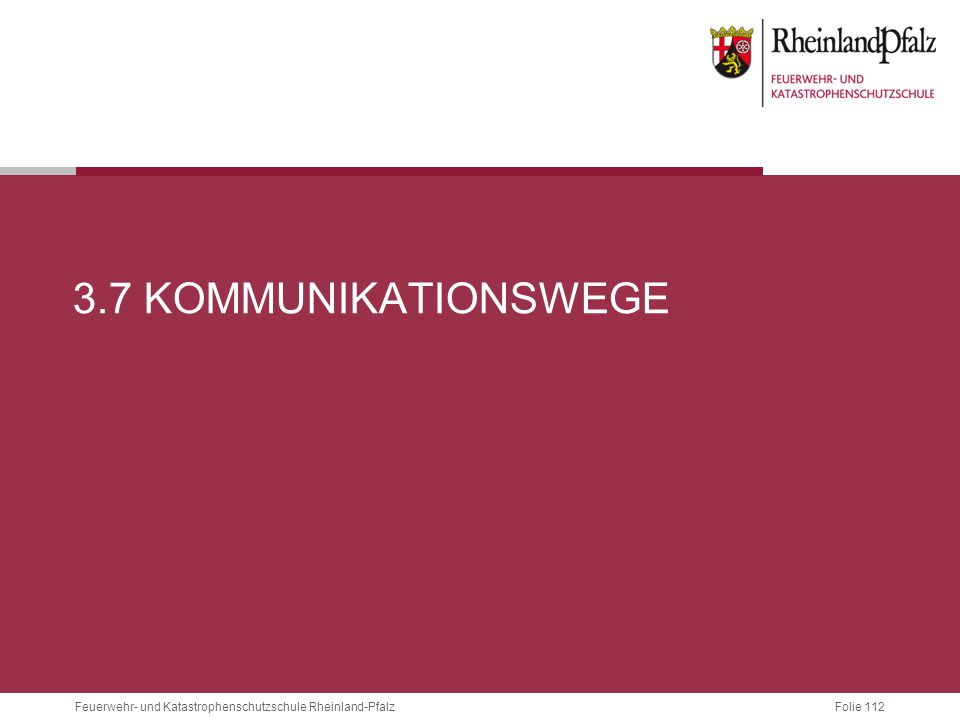 3.7 Kommunikationswege