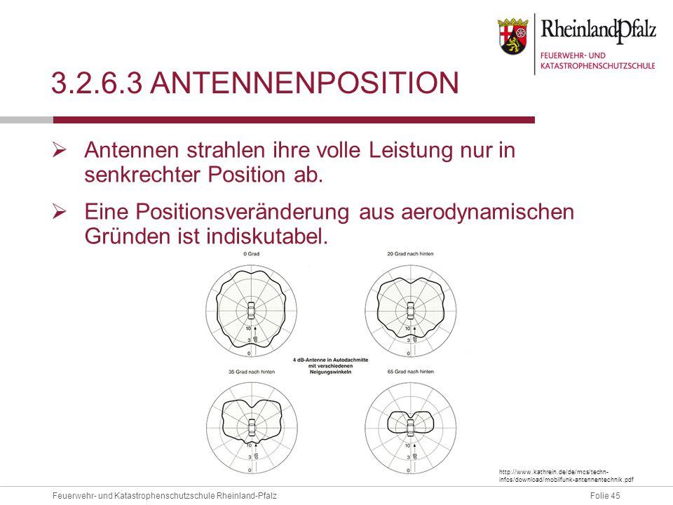 3.2.6.3 Antennenposition Antennen strahlen ihre volle Leistung nur in senkrechter Position ab.