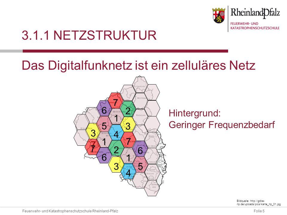 Das Digitalfunknetz ist ein zelluläres Netz