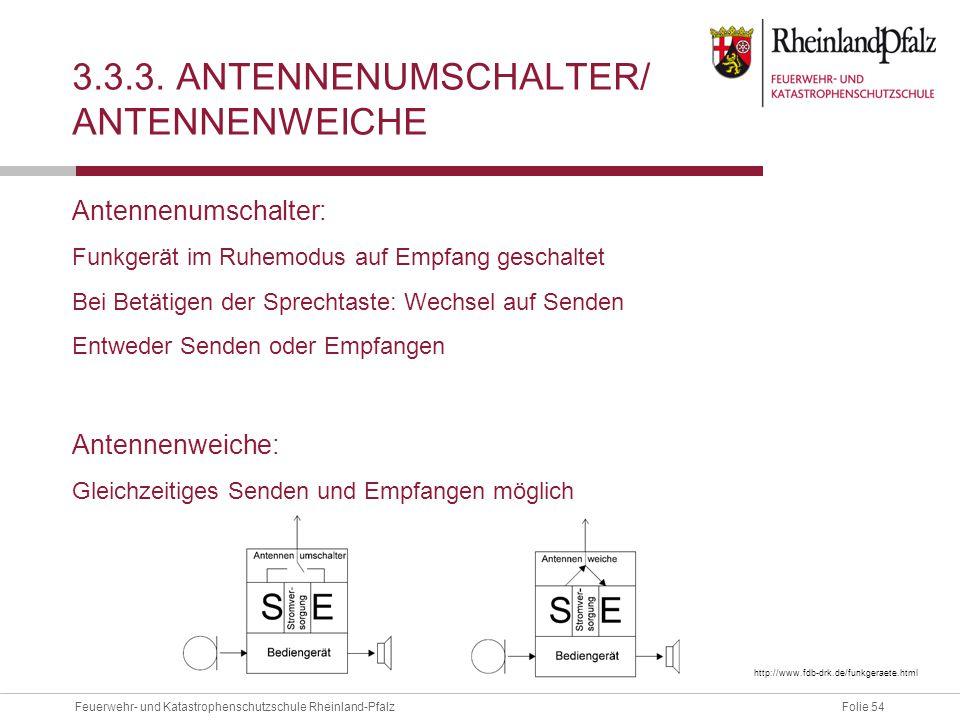 3.3.3. Antennenumschalter/ Antennenweiche