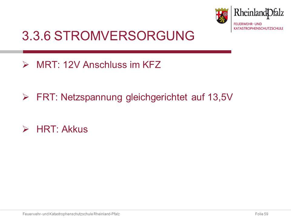 3.3.6 Stromversorgung MRT: 12V Anschluss im KFZ